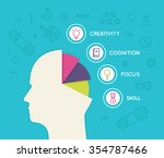 useful human abilities for... | Shutterstock .eps vector #354787466