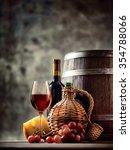 Glass  Bottle  Carafe Of Wine...