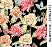 beautiful watercolor pattern... | Shutterstock . vector #354818696