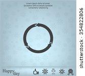 circular arrows vector icon   Shutterstock .eps vector #354822806