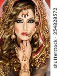 portrait of a beautiful female... | Shutterstock . vector #354828572