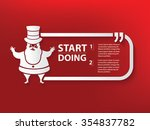 santa claus design and text box ... | Shutterstock .eps vector #354837782