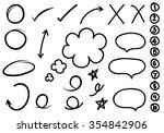 hand drawn design elements... | Shutterstock .eps vector #354842906