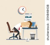 businessman  manager  clerk ... | Shutterstock .eps vector #354848438
