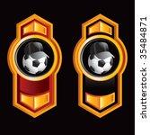 soccer referee ball on royal... | Shutterstock .eps vector #35484871