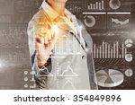 chest view of businesswoman... | Shutterstock . vector #354849896