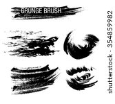 vector set of grunge brush... | Shutterstock .eps vector #354859982