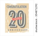 anniversary retro background   Shutterstock .eps vector #354871292