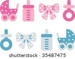 baby | Shutterstock .eps vector #35487475