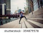 beautiful woman doing... | Shutterstock . vector #354879578