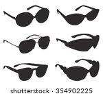 sunglasses silhouette  vector... | Shutterstock .eps vector #354902225
