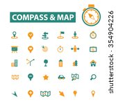 compass  map icons  signs set ... | Shutterstock .eps vector #354904226