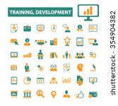 business training  icons  signs ... | Shutterstock .eps vector #354904382