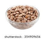 pinto beans in a glass bowl.... | Shutterstock . vector #354909656