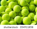 tennis balls background | Shutterstock . vector #354911858