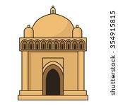 ancient samanid mausoleum in... | Shutterstock .eps vector #354915815