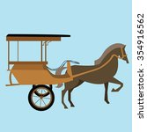 horse carriage cart asia vector ... | Shutterstock .eps vector #354916562