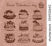 cupcakes for valentine's day.... | Shutterstock .eps vector #354920642