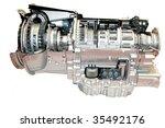truck engine - stock photo