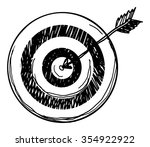cartoon hand drawn target ...