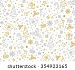 seamless pattern for christmas... | Shutterstock .eps vector #354923165