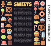 sweets flat multicolored... | Shutterstock .eps vector #354923975