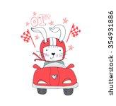 illustration of rabbit champion ...   Shutterstock .eps vector #354931886