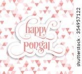 illustration of pongal festival. | Shutterstock .eps vector #354957122