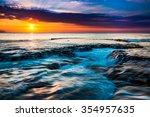 a beautiful hawaiian sunset | Shutterstock . vector #354957635