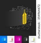 hand drawn simple elements with ... | Shutterstock .eps vector #354964472