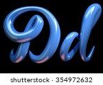 3d Handwritten Blue Plastic...