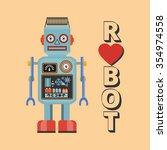 Retro Robot. Vintage Robot....