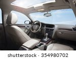car dashboard and sky | Shutterstock . vector #354980702