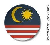 malaysia flag button. vector... | Shutterstock .eps vector #354981092