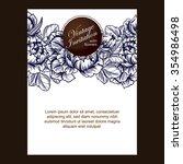 vintage delicate invitation... | Shutterstock . vector #354986498