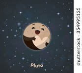 cute pluto   Shutterstock .eps vector #354995135
