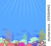 cartoon undersea  vector   Shutterstock .eps vector #355004942