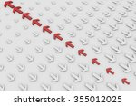 not the same as the arrow the... | Shutterstock . vector #355012025