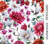 Watercolor Pattern Magnolia...