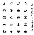 wedding icons set | Shutterstock .eps vector #355017176