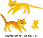 tigers and puma | Shutterstock .eps vector #35501851