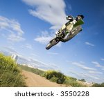 motocross rider in the air 14 | Shutterstock . vector #3550228