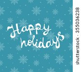 hand drawn winter holidays...   Shutterstock .eps vector #355036238