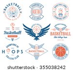 basketball badges and crests... | Shutterstock .eps vector #355038242