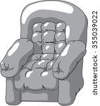 soft leather chair. it shines...