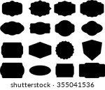 set of vintage frames for... | Shutterstock .eps vector #355041536