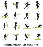 sports symbol for web icons | Shutterstock .eps vector #355051775