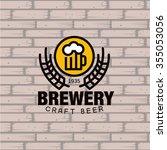simple brewery logo. beer mug... | Shutterstock .eps vector #355053056