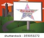 premiere star representing... | Shutterstock . vector #355053272