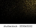 gold glitter texture on a black ... | Shutterstock .eps vector #355065332